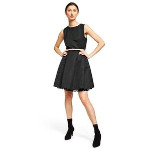 Jason Wu Black Sleeveless Fit & Flare Tulle Dress